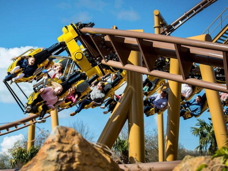 The Flight of the Pterosaur in Lost Kingdom at Paultons Park