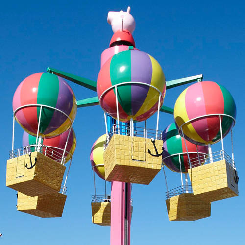 Peppa's Big Balloon ride in Peppa Pig World