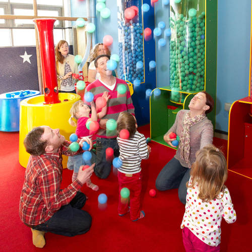 The Soft Ball Recycling Centre in George's Spaceship Indoor Playzone at Peppa Pig World