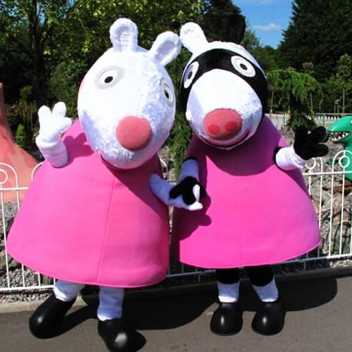 See Zoe Zebra and Suzy Sheep in Peppa Pig World