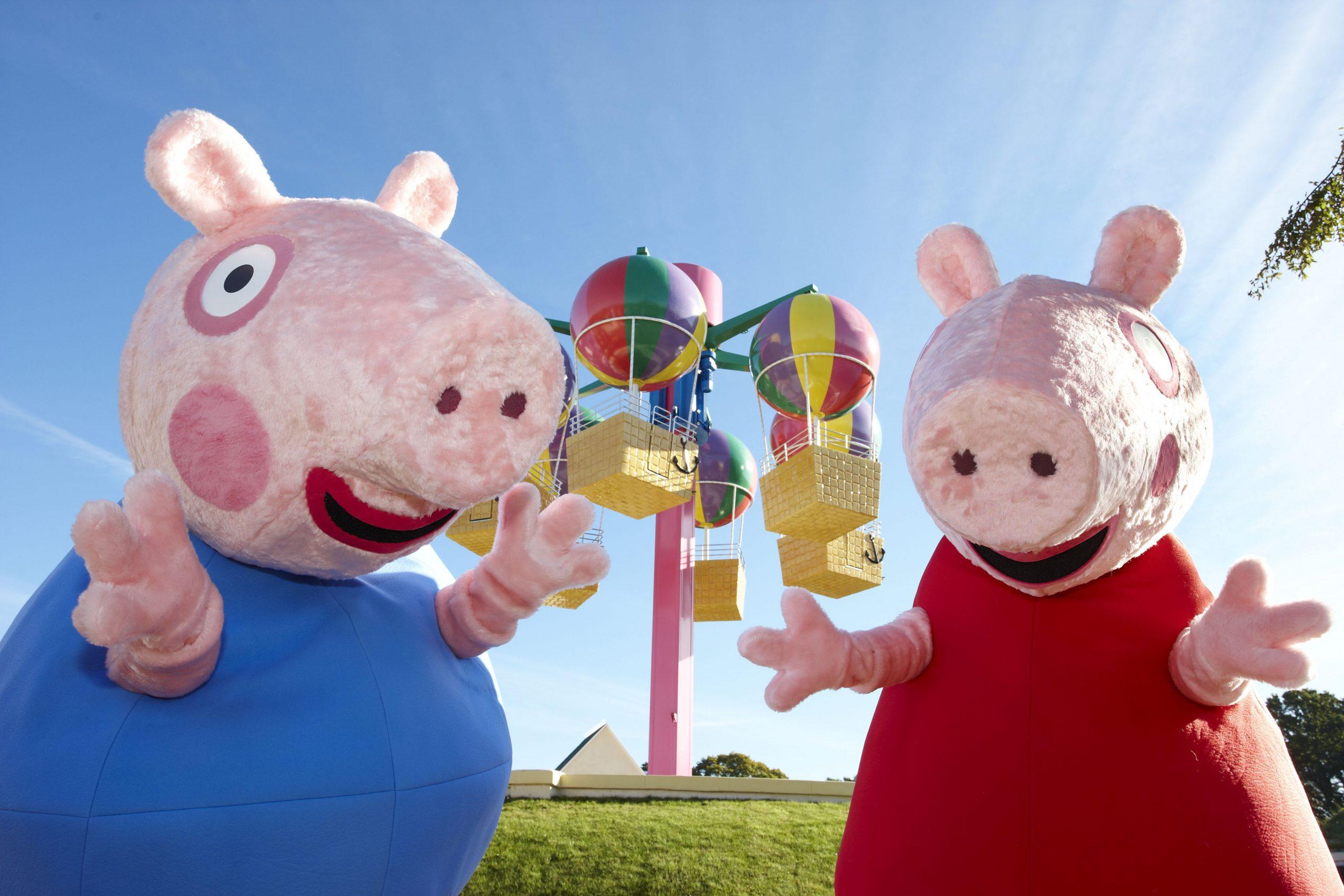 Peppa and George in Peppa Pig World